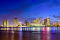 New Orleans Skyline. New Orleans, Louisiana, USA skyline on the Mississippi River stock photography