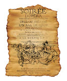 New Orleans Soiree Opera Flyer Royalty Free Stock Photos