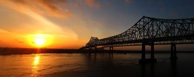New Orleans soluppgång Arkivbilder