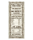 New Orleans St Charles Theater Opera Flyer Royalty Free Stock Image