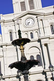 New Orleans St Louis Cathedral Fountain Royalty Free Stock Photos
