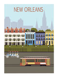 New Orleans stad. Fotografering för Bildbyråer