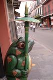 New Orleans street. Sculpture outside New Orleans shop stock photo