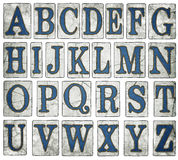 New Orleans Street Tiles Digital Alphabet. This A to Z alphabet is hand created digitally for your design purposes in the iconic style of New Orleans street Stock Image