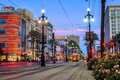 New Orleans Streetcar Line Stock Photos