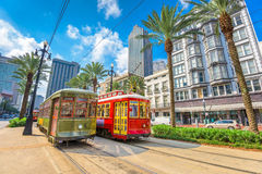 New Orleans Streetcars. New Orleans, Louisiana, USA street cars Stock Photo