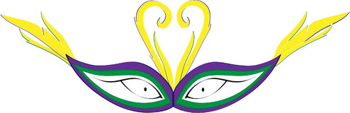 New Orleans style Mardi Gras or Carnival Mask Royalty Free Stock Image