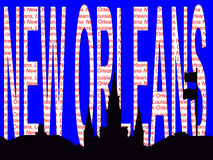 New Orleans text illustration Royalty Free Stock Image