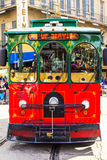 New Orleans Tram. NEW ORLEANS, USA - JAN 22 2016: New Orleans Streetcar Line, Newly revamped after Hurricane Katrina in 2005, the New Orleans Streetcar line Royalty Free Stock Photos