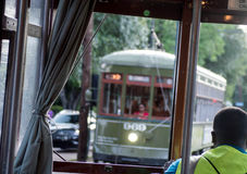 New Orleans Trolley-St. Charles Avenue Streetcar. Garden District - New Orleans, Louisiana Stock Images