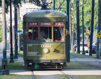 New Orleans Trolley-St. Charles Avenue Streetcar. Garden District - New Orleans, Louisiana Royalty Free Stock Photography