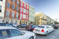 NEW ORLEANS, USA - FEBRUARY 2016: Traffic along city streets. Tr. Affic is very heavy on the city during peak hours Stock Images
