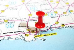 New Orleans  USA map Royalty Free Stock Photos