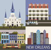 New Orleans. Vektor Royaltyfria Foton
