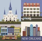 New Orleans. Vektor Lizenzfreie Stockfotos