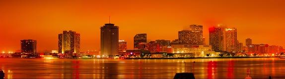 New Orleans vlak na zonsondergang Stock Foto