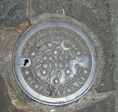 New Orleans Water Meter Cover Stock Photos