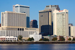 New Orleans - Waterfront Hotels Stock Photos