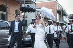 New Orleans wedding procession Royalty Free Stock Photos