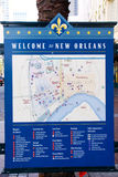 New Orleans Welcome - Downtown Map Royalty Free Stock Photos