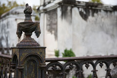 New Orleans - Wrought Iron Cemetery Post Royalty Free Stock Images