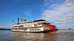 New- Orleansdampfschiff NATCHEZ, Fluss Mississipi Stockbilder