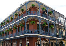 New- Orleansfranzösisches Viertel-Architektur Lizenzfreies Stockbild