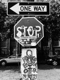 New- Orleansstoppschild lizenzfreie stockfotografie