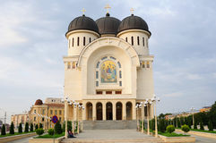 New Orthodox Cathedral of Arad Stock Photos