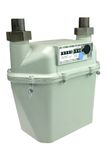 New Outdoor Gas Meter Stock Photo