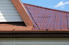 New painted metal roof Royalty Free Stock Photography