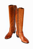 A new pair of boots. Just in time for autumn and winter Royalty Free Stock Photo