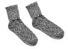 New Pair of Cozy Wool Socks Royalty Free Stock Image