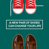 New pair of shoes can change your life royalty free illustration