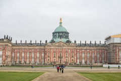 The New Palace. A park around the Sanssouci Palace in Potsdam Germany is full of villas, palaces and other royal buildings. It is a perfect place for a trip Royalty Free Stock Photo