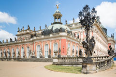 New Palace in Sanssouci Park, Potsdam, Germany. The New Palace is a palace situated in Sanssouci Royal Park in Potsdam, Germany. The building was begun in 1763 Royalty Free Stock Photo