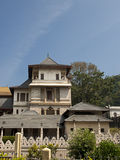 New Palace at Temple of the Tooth. New Palace at Sacred Tooth Relic Temple (Sri Dalada Maligawa) in Kandy, Sri Lanka. This temple is a UNESCO World Heritage Site Stock Image