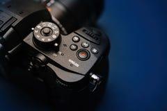 New Panasonic Lumix GH5 and Leica 12-60 camera lens Royalty Free Stock Photography
