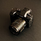 New Panasonic Lumix GH5 and Leica 12-60 camera lens Stock Photo