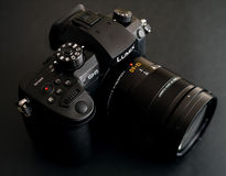 New Panasonic Lumix GH5 and Leica 12-60 camera lens Royalty Free Stock Images
