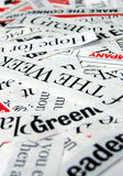 New paper headlines. Close up of new paper headlines Royalty Free Stock Photos