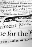 New paper headlines. Close up of new paper headlines Royalty Free Stock Image