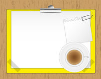 New paper note and coffee Stock Images