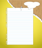 New paper note with nail. Royalty Free Stock Photo