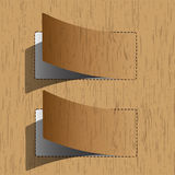 New paper sheet. Wooden pattern Stock Images