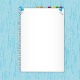 New paper sheet Stock Photography