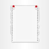 New paper sheet Royalty Free Stock Photos