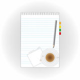 New paper sheet and coffee. Stock Photos