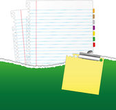 New paper sheet in rip green folder Royalty Free Stock Photo
