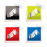 New paper tag Stock Image